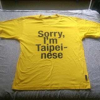 Sorry,I Am Taipeinese 黃色上衣