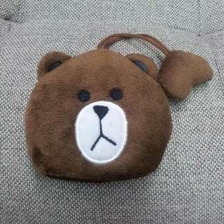 《全新現貨》熊大卡通伸縮鑰匙扣包