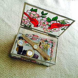 《老彩繪花珠寶盒系列》紅鳥-有溫度的東西最美