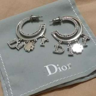 Dior dangling earring with Dior Charms