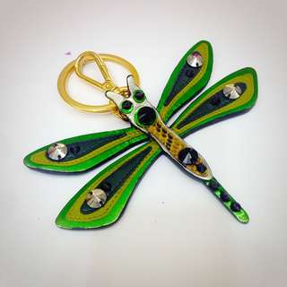 MIU MIU 綠蜻蜓 鑰匙圈 吊飾