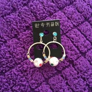 全新✨韓✨彩色鑽石耳環