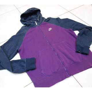 NIKE近全新正品,紫色接袖連帽外套XL號
