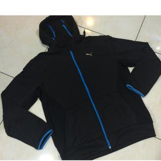 PUMA全黑運動外套,近全新正品PUMA慢跑夾克
