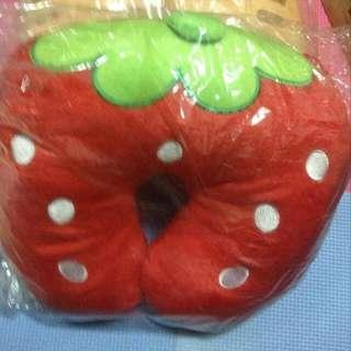 全新草莓U型枕