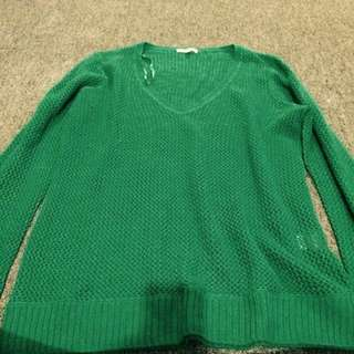 Green Knitted Top, Size L