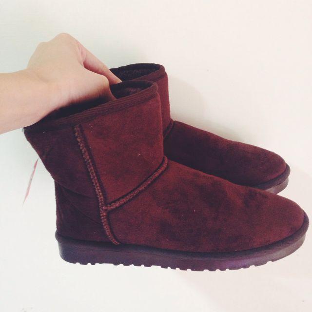 深咖啡保暖雪靴