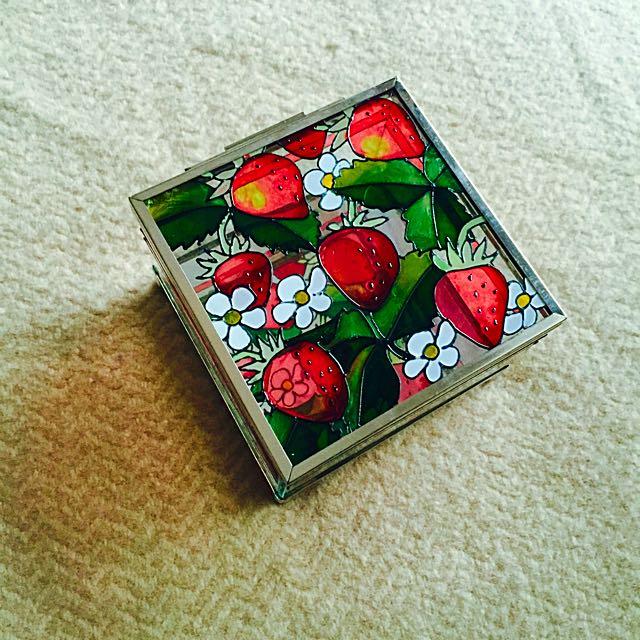 《老彩繪花珠寶盒系列》《小》草莓--有溫度的東西最美