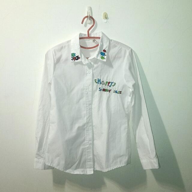 童趣字母白色襯衫