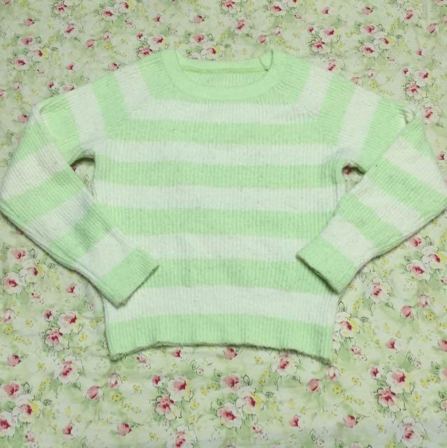 👉🏼淺色條紋毛衣