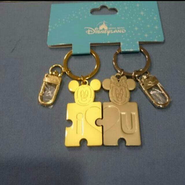 香港迪士尼 米奇米妮鑰匙圈💃