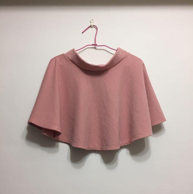 法式太陽裙小圓裙 粉色/深藍