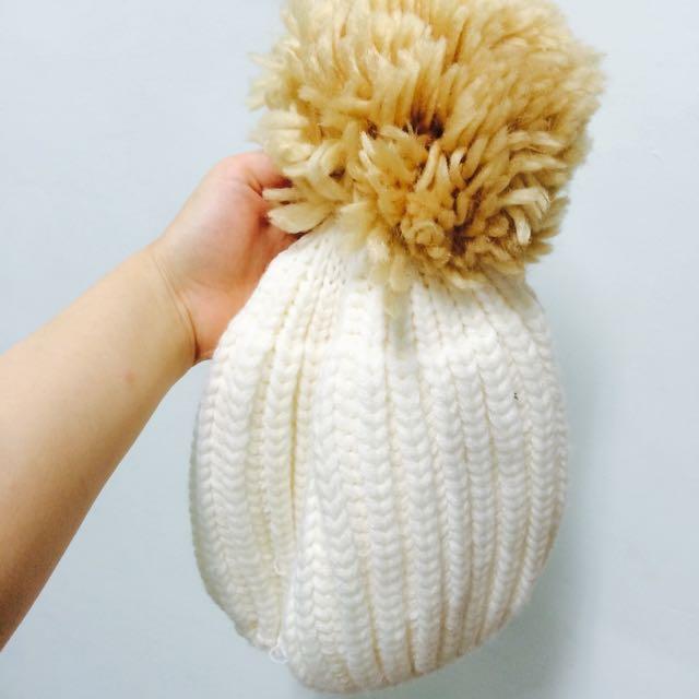 毛帽 兩色(純白/芥末黃)