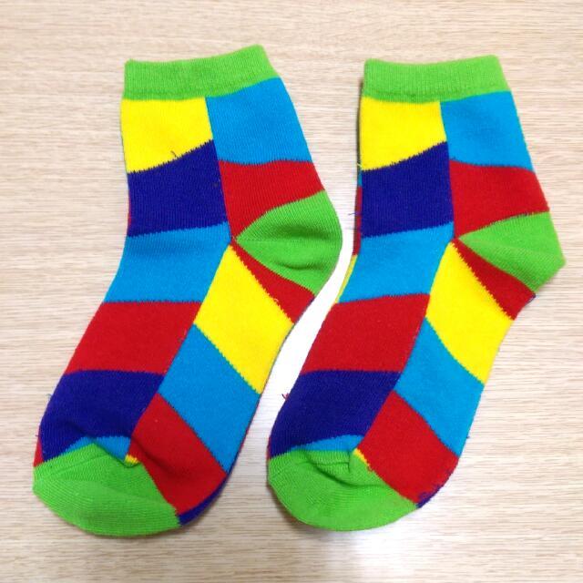 韓國 幾何 復古 長襪