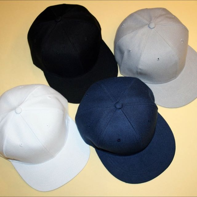 素色後扣帽 棒球帽 Snapback 板帽
