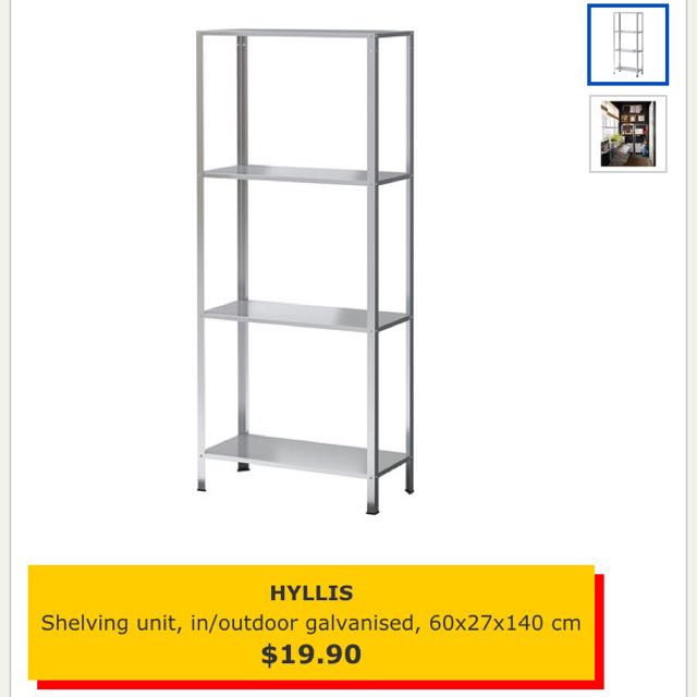 Brand New Hyllis Ikea Shelving Unit Home Furniture On Carousell