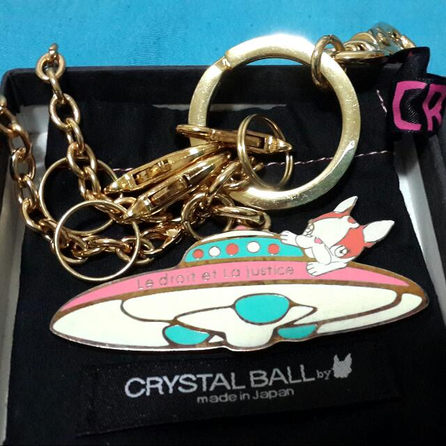 Crystal Ball 狗頭鑰匙圈