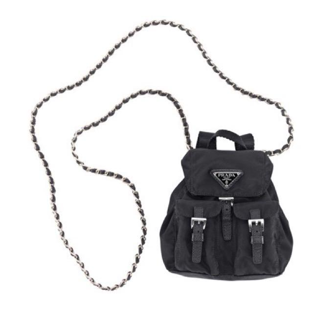 e33dfbfa67a1 ... cheap limited new prada black nylon mini backpack luxury on carousell  38594 0a947