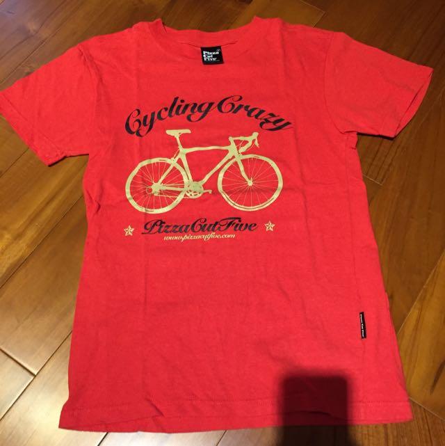 PIZZACUTFIVE 紅色 單車特殊設計款