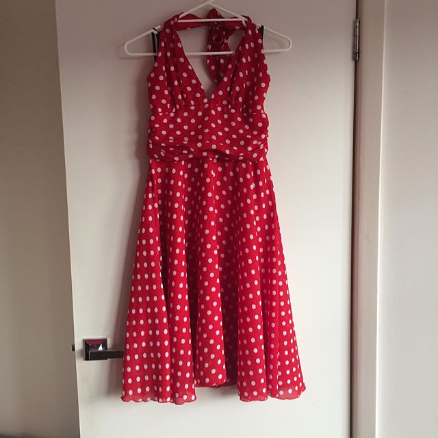 Red Berry Spotty Dress