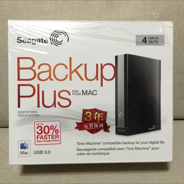 Seagate 3.5吋 Backup Plus For Mac 4TB 外接硬碟
