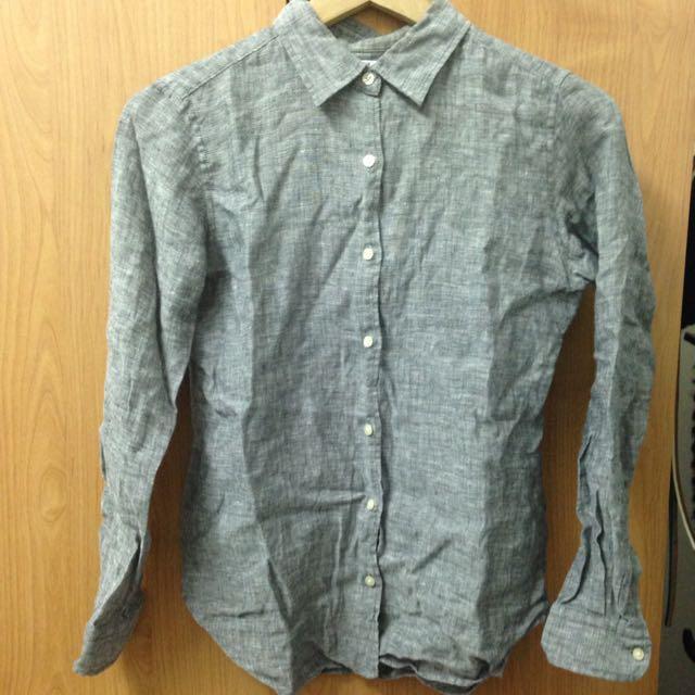 Uniqlo 亞麻襯衫袖