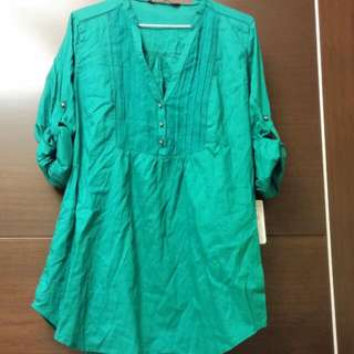 Zara 北一女綠 長洋裝