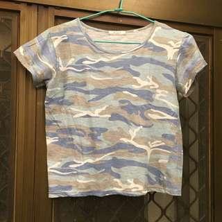 [免運]Q藍迷彩上衣