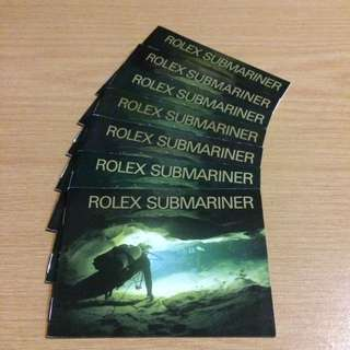 Rolex Submariner Manual/Booklet