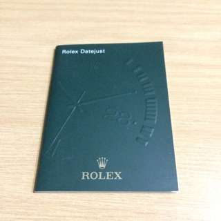 Rolex Datejust Manual/Booklet