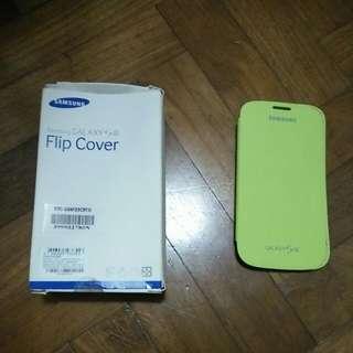 Samsung 3 Flip Cover (Green & Yellow)