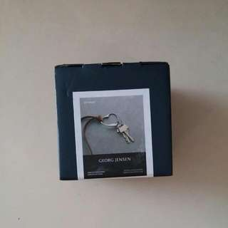 Georg Jensen 永恆愛戀 原色皮繩鑰匙圈