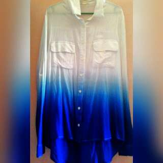 mango inspired ombre blouse