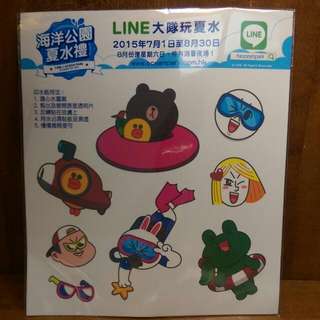 Line紋身貼紙