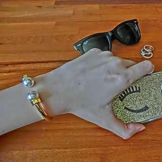 珍珠金飾手環