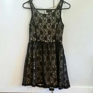 Baby Doll Style Lace Dress Size S (8)