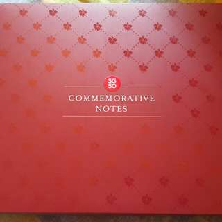 Selling Singapore SG50 Commerative Notes With Folder