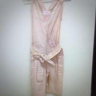 H2O粉色吊帶裙