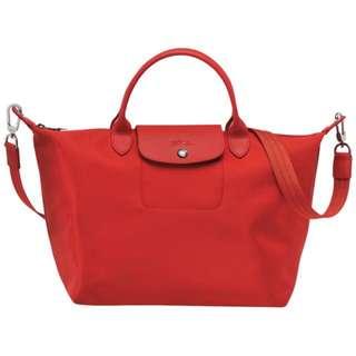Longchamp Lepliage Neo Small Size Red/black