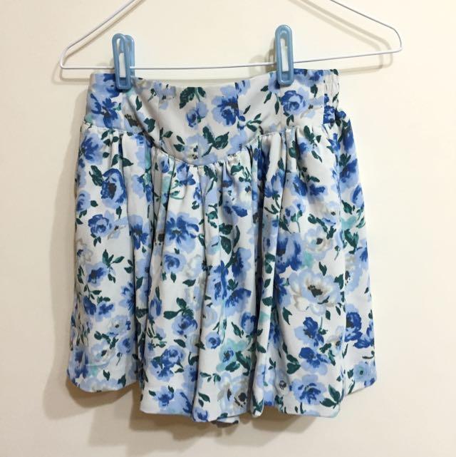 全新~超美日本專櫃花花褲裙
