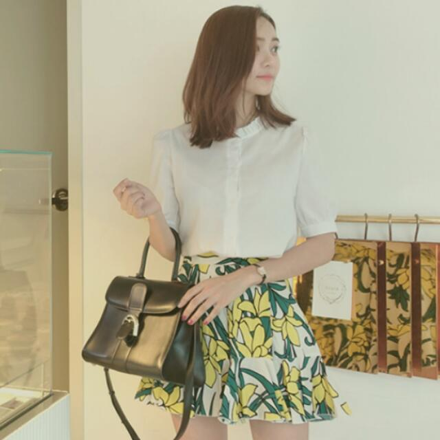 [現貨中-韓國代購]小資女孩必備款白色優雅襯衫
