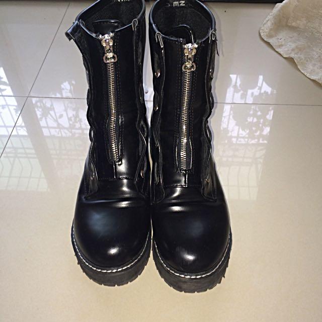 拉鍊馬丁靴