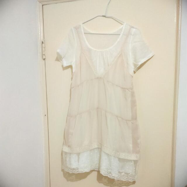 日系雪紡兩件式小洋裝