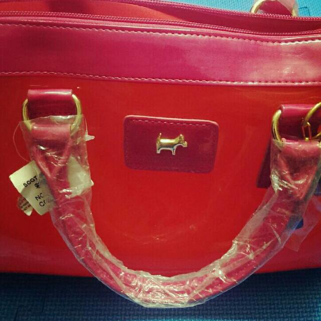 全新 👉 桃紅色亮皮包