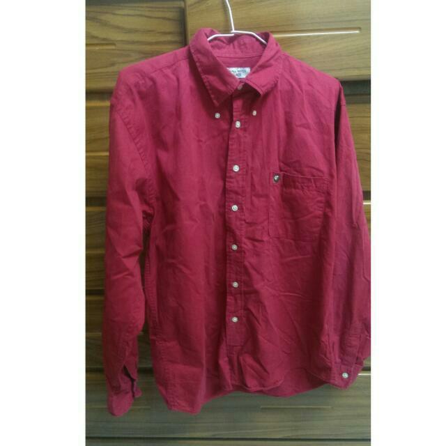 APE紅色襯衫