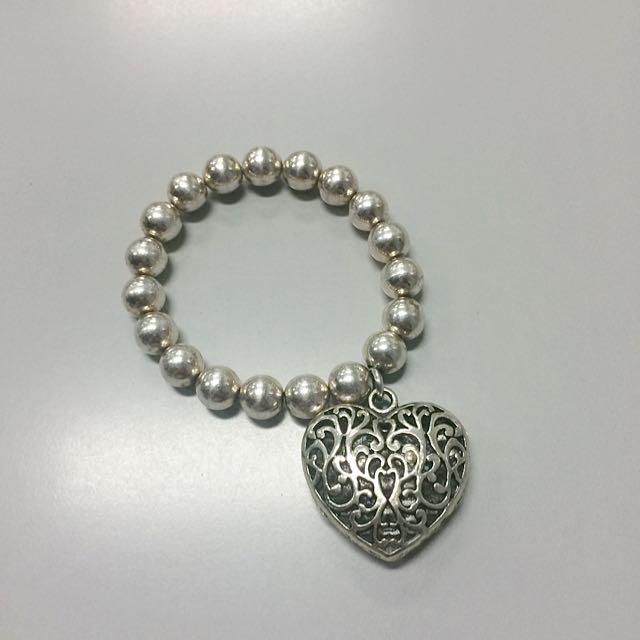 Costume Jewelry Heart Bracelet