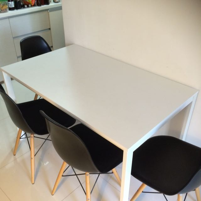 dining table ikea melltorp 4 6 places furniture on carousell. Black Bedroom Furniture Sets. Home Design Ideas