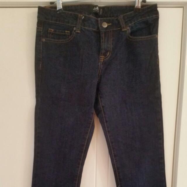 Size 10 DOTTI Hipster Skinny Jeans - Dark Blue