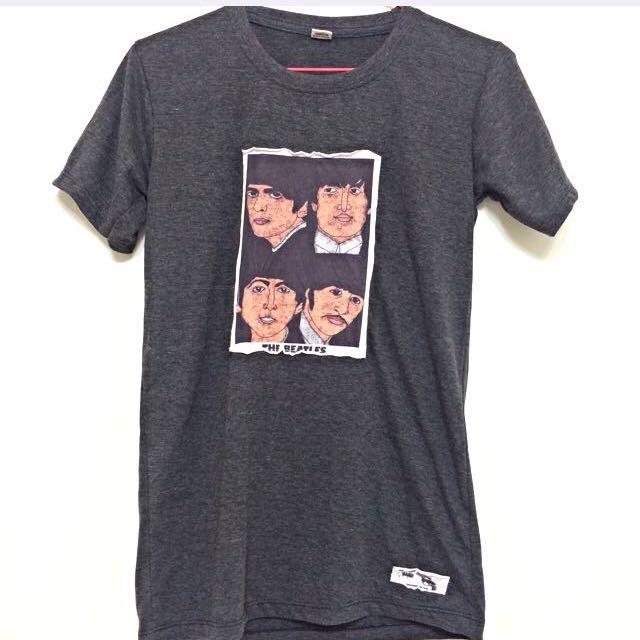 (降價)泰國購入設計師品牌披頭四T恤