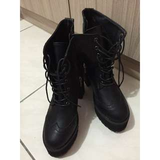 韓國STYLENANDA正品高跟厚底靴